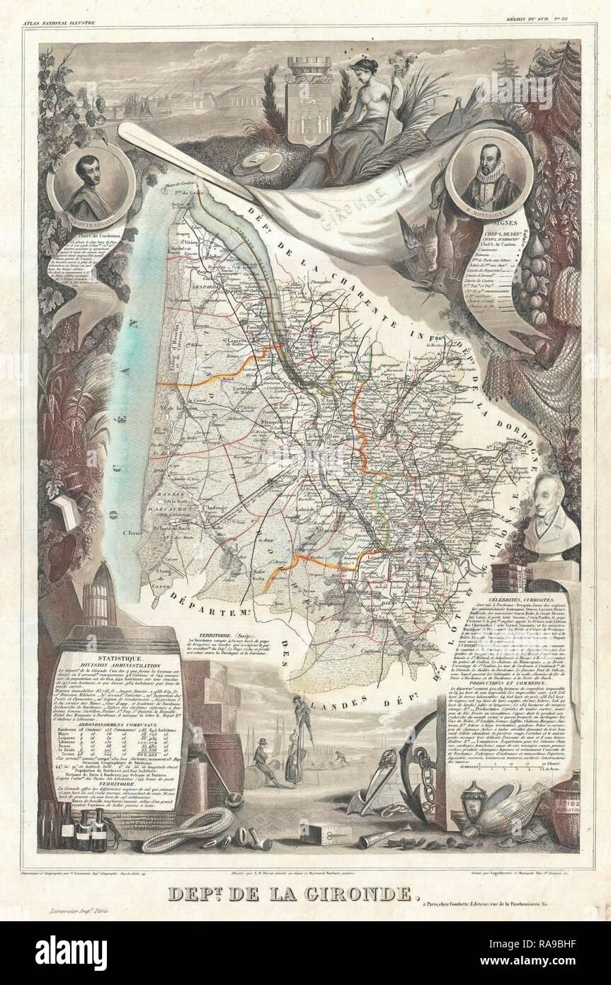 Carte Bordeaux Et Ses Environs : carte, bordeaux, environs, Bordeaux, Resolution, Stock, Photography, Images, Alamy