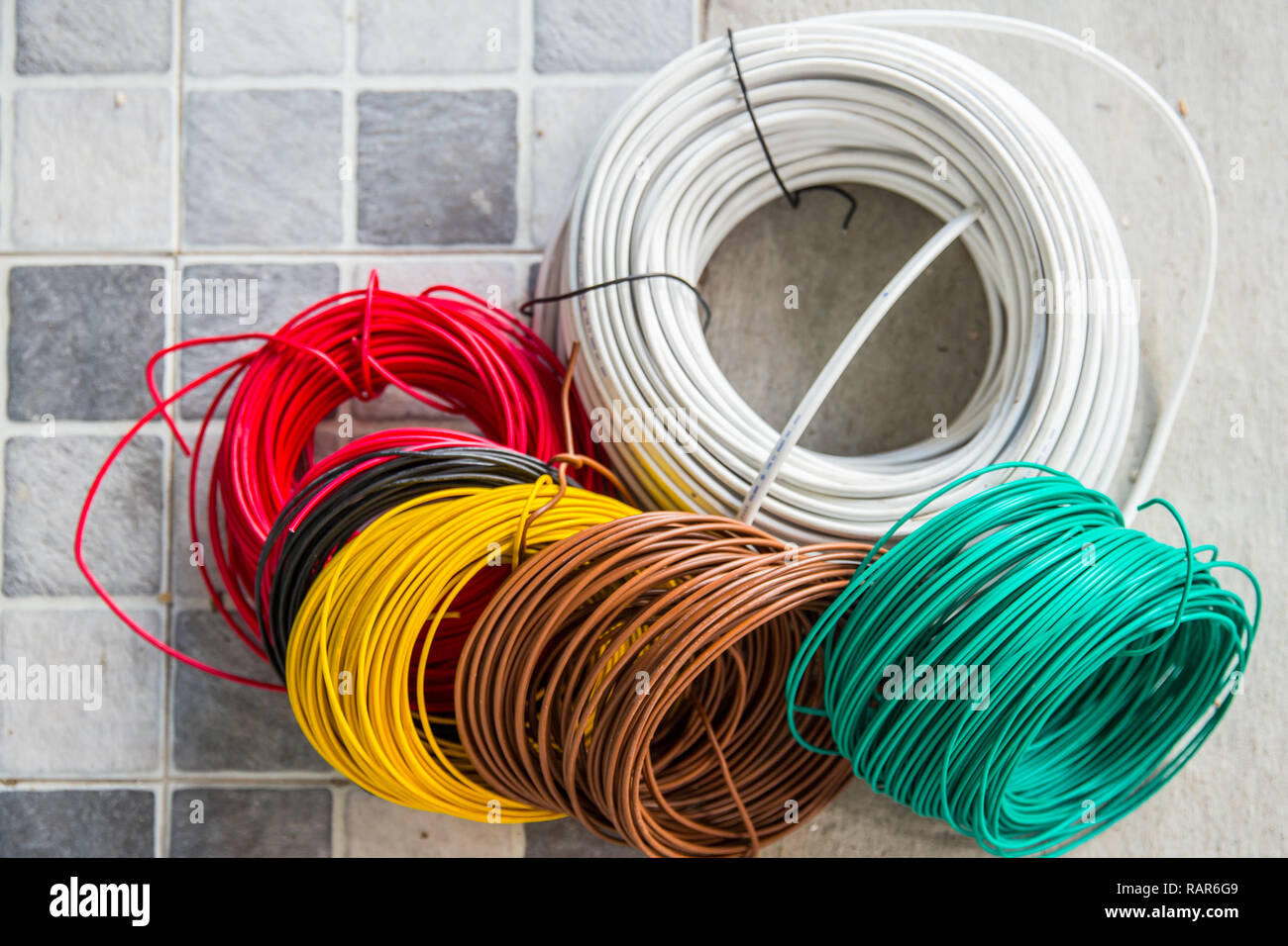 hight resolution of colorful row electricity cable for interior home building power wiring many type