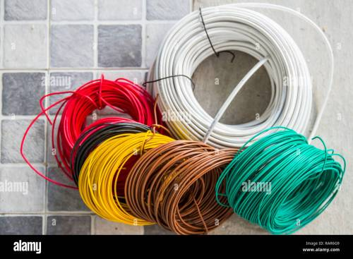 small resolution of colorful row electricity cable for interior home building power wiring many type