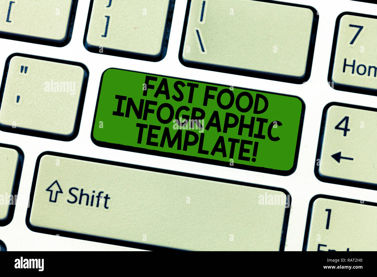 hight resolution of handwriting text fast food infographic template concept meaning design diagrams for give information keyboard key intention to create computer messag