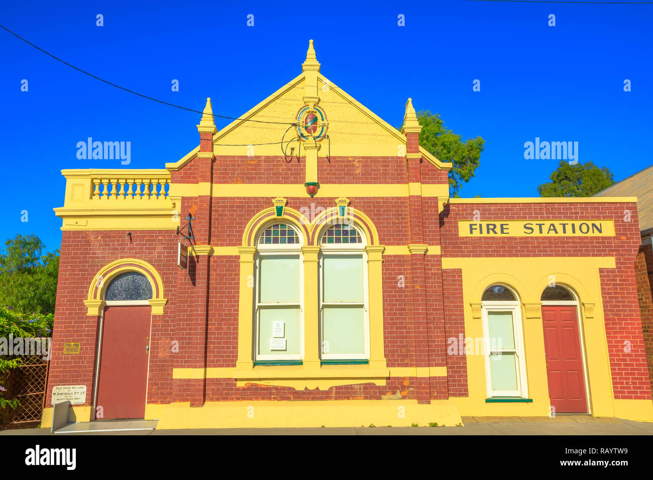 York Australia Dec 25 2017 Front View Of Former Fire
