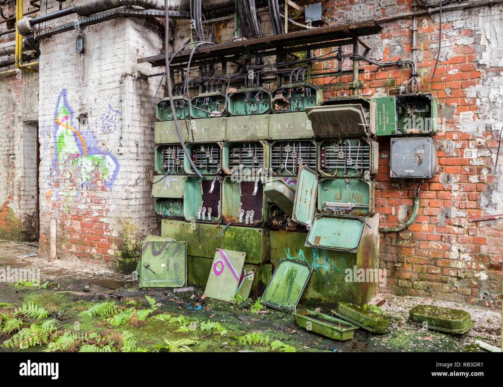 medium resolution of old fuse box factory stock image