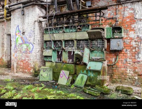 small resolution of old fuse box factory stock image