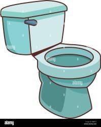 bathroom toilet cartoon Stock Vector Image & Art Alamy