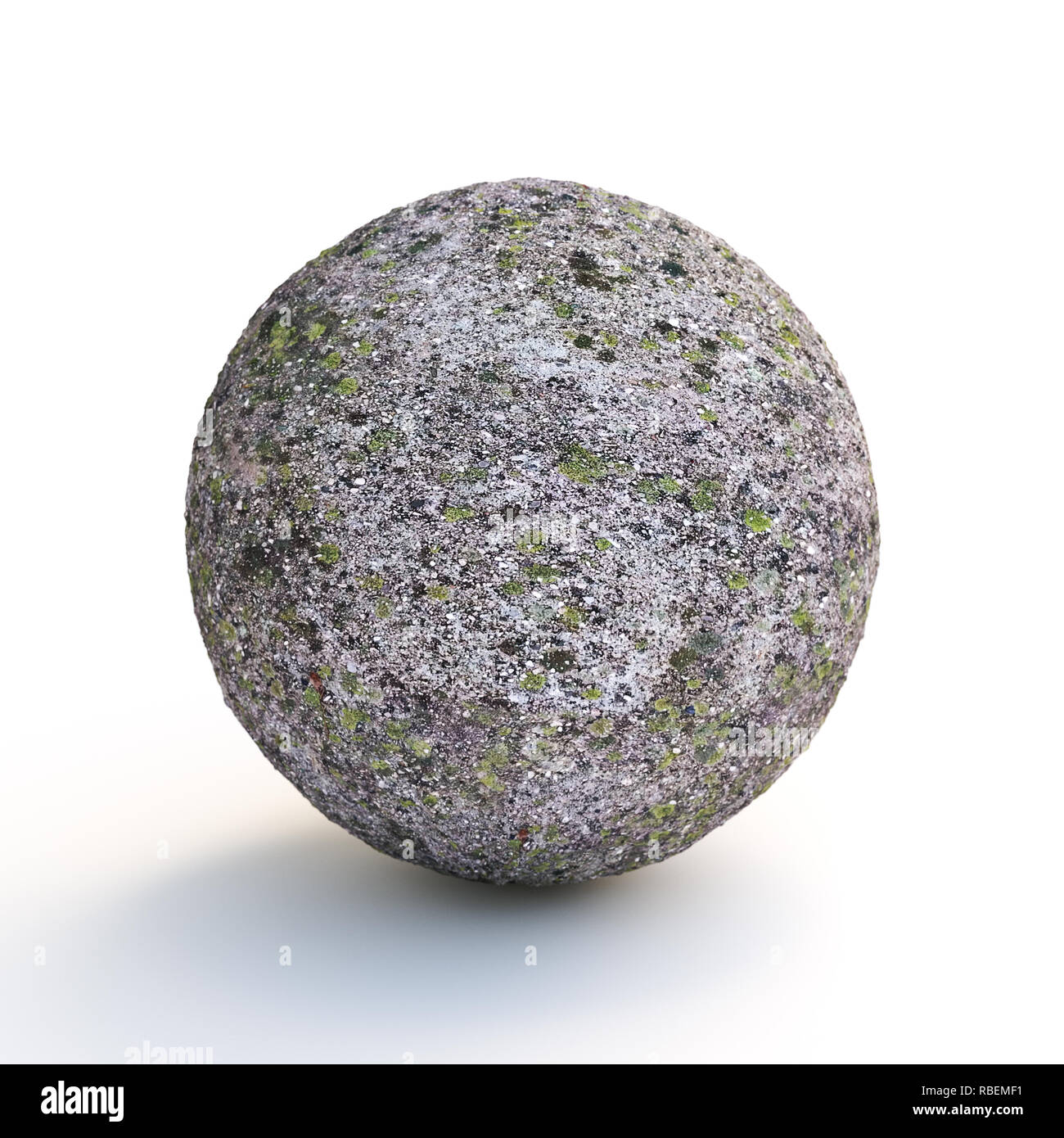 concrete sphere covered with
