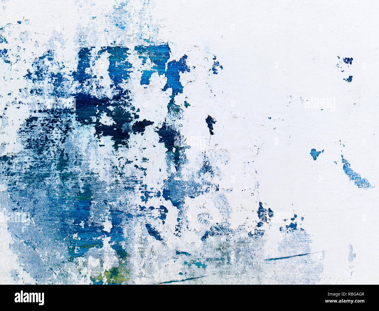 wall blue and white