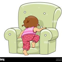 Chair For Toddler Girl Golden Technologies Lift Chairs Canada Illustration Of A Kid Climbing Lounge Stock