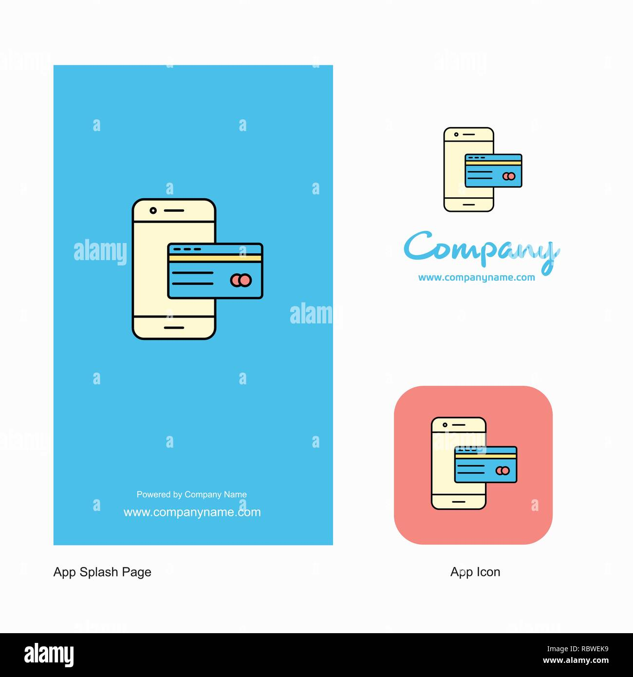 Online Banking Company Logo App Icon And Splash Page Design