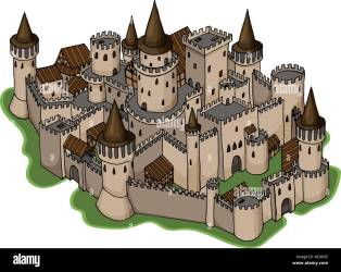 Medieval Castle Illustration High Resolution Stock Photography and Images Alamy