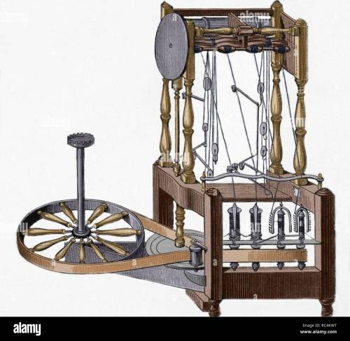 small resolution of spinning frame designed in 1767 by richard arkwright 1732 1792