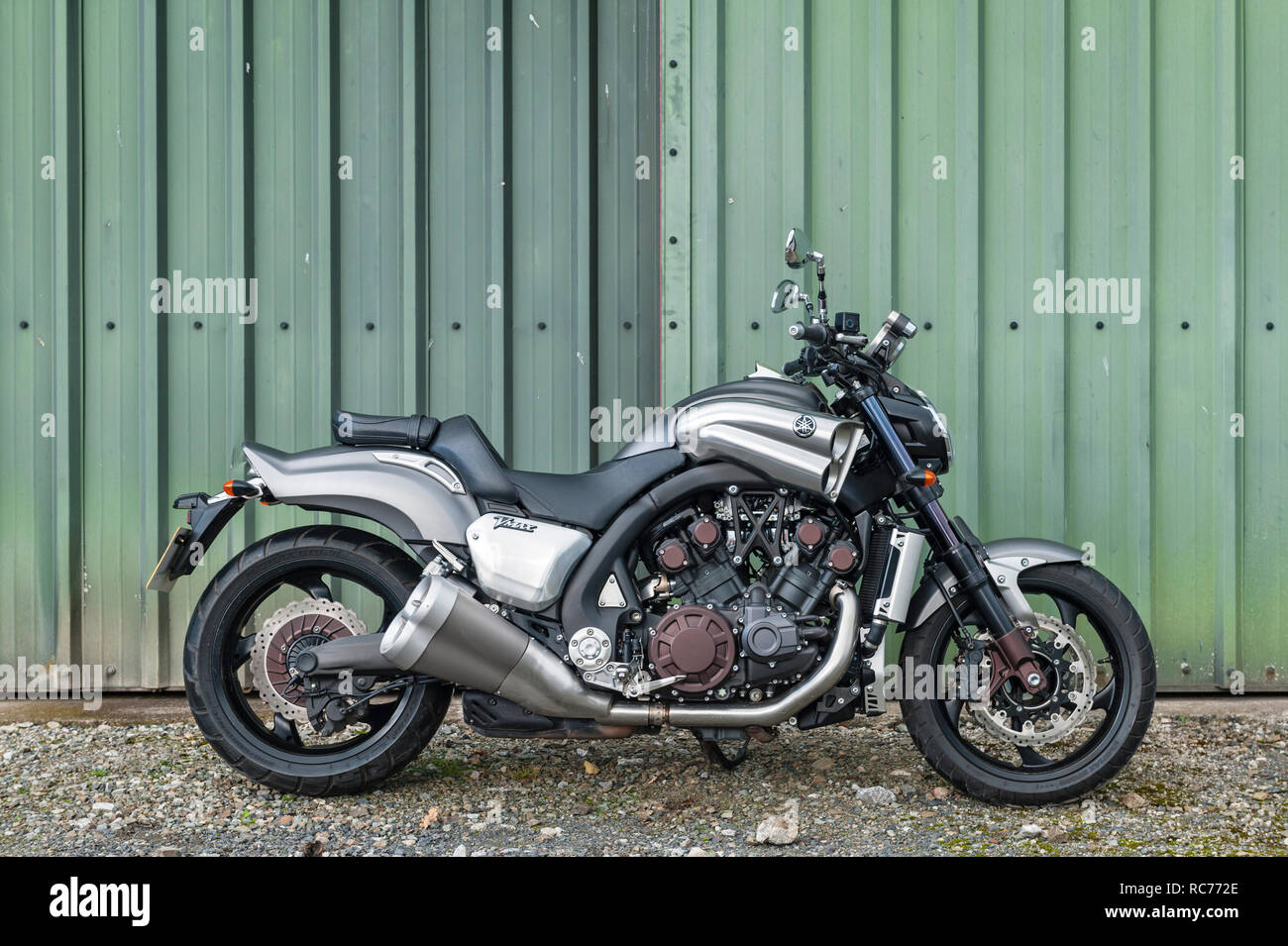 hight resolution of yamaha vmax motorcycle with a 4 cylinder liquid cooled 1679cc v4 engine