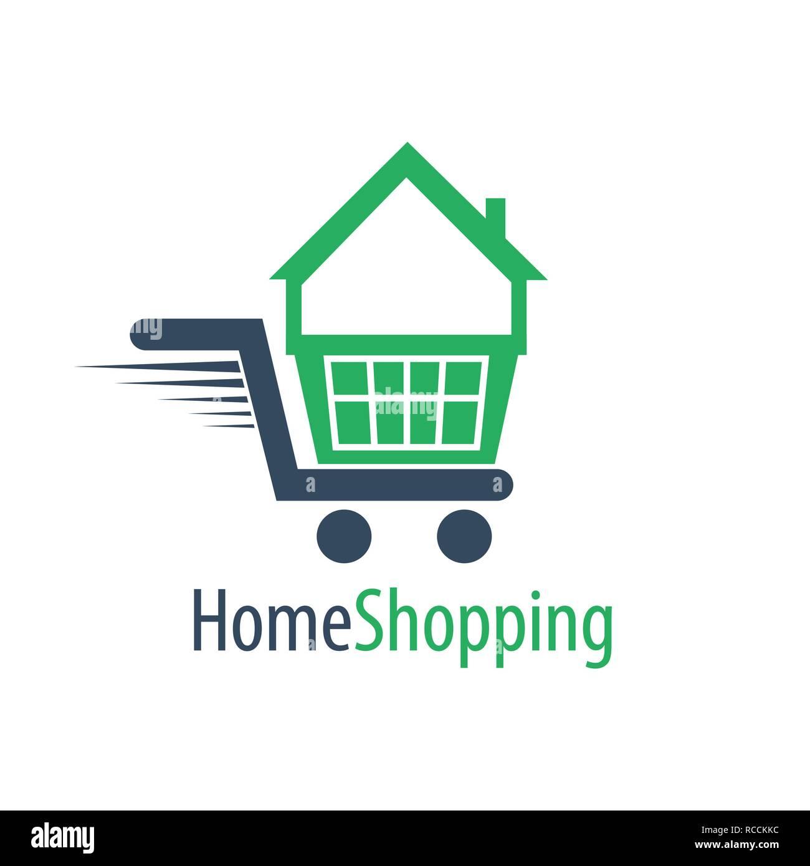 home shopping cart logo