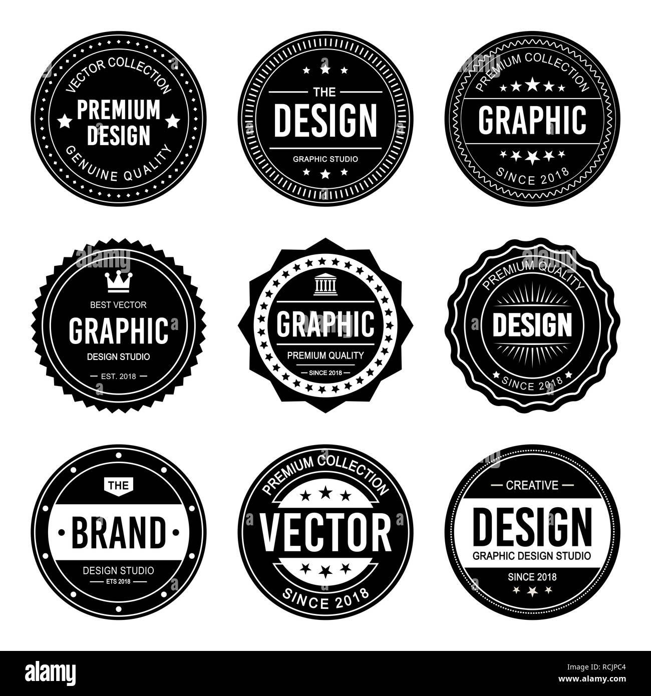 vintage badge vector design