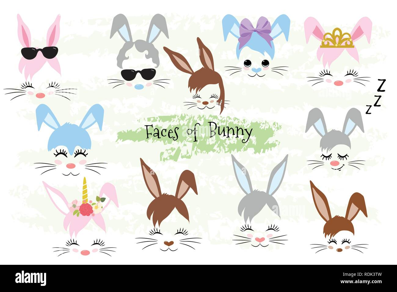 hight resolution of happy easter bunny face clipart easter gift