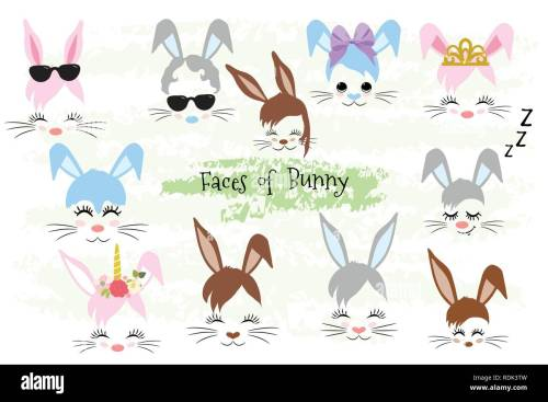 small resolution of happy easter bunny face clipart easter gift