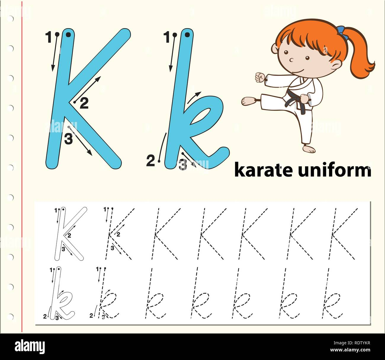 Karate Worksheet