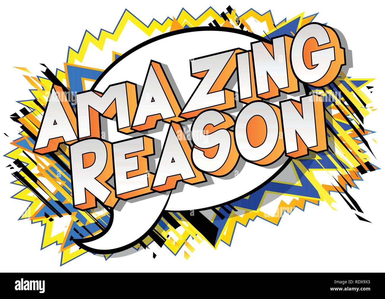 amazing reason vector illustrated