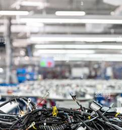 manufacturing of wiring harnesses automotive industry technology stock image [ 867 x 1390 Pixel ]