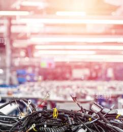 wiring harnesses technology automobile industry background stock image [ 867 x 1390 Pixel ]