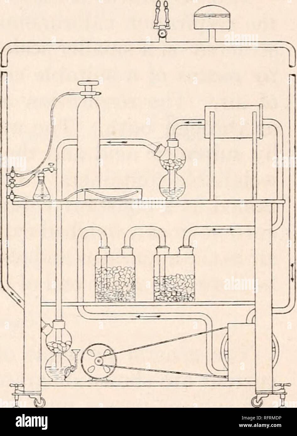 hight resolution of diagrammatic scheme of air circuit and purifying arrangements of tension equalizer unit fig 3 diagram showing arrangement of benedict respiration