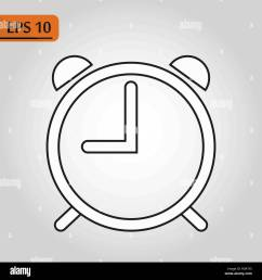 alarm clock icon isolated on white background simple line outline style alarm clock ringing icon modern design ep10 [ 1300 x 1390 Pixel ]