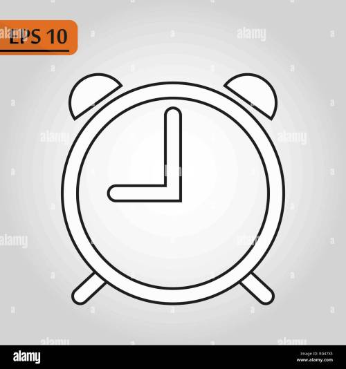 small resolution of alarm clock icon isolated on white background simple line outline style alarm clock ringing icon modern design ep10