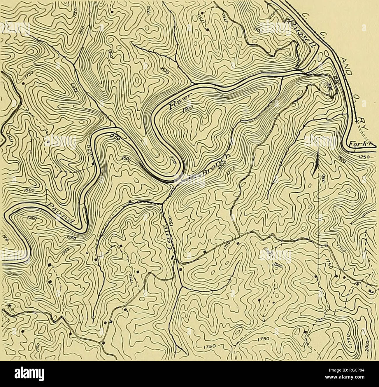 Topographic Map River Stock Photos Amp Topographic Map River Stock Images
