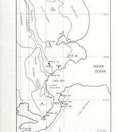 geology fig 3 sample location map i indi tanzania approx position only k rm 1 3 lies off the south cast corner ot the map  [ 963 x 1390 Pixel ]