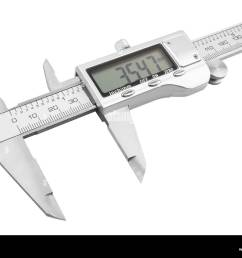dgital electronic vernier caliper isolated on white background stock image [ 1300 x 1018 Pixel ]