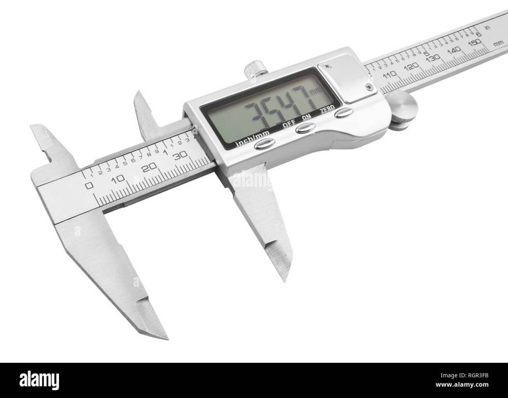 medium resolution of dgital electronic vernier caliper isolated on white background stock image
