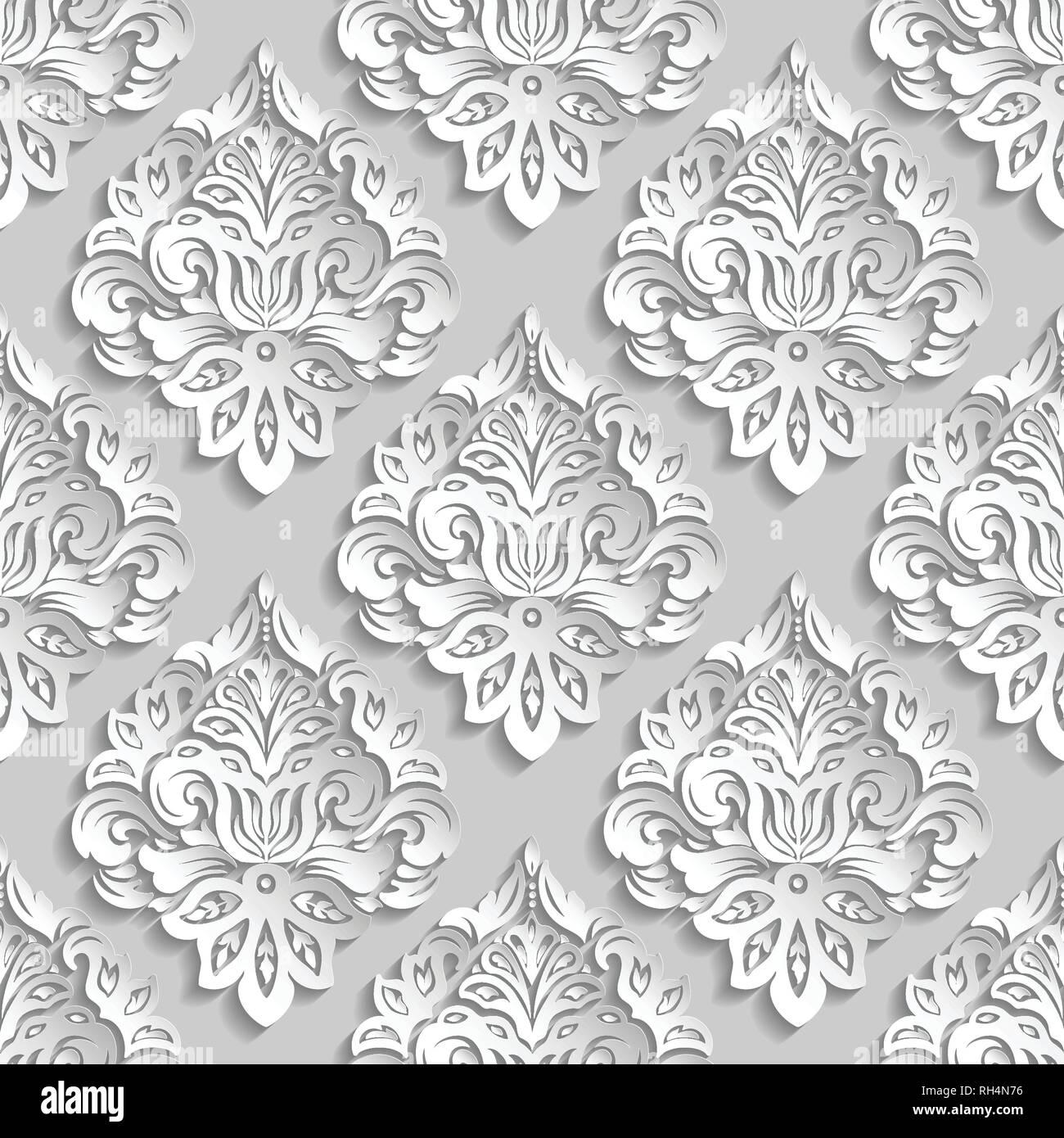 3d white pattern paper