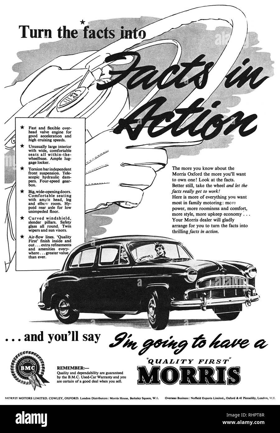 1950s car advertisement stock