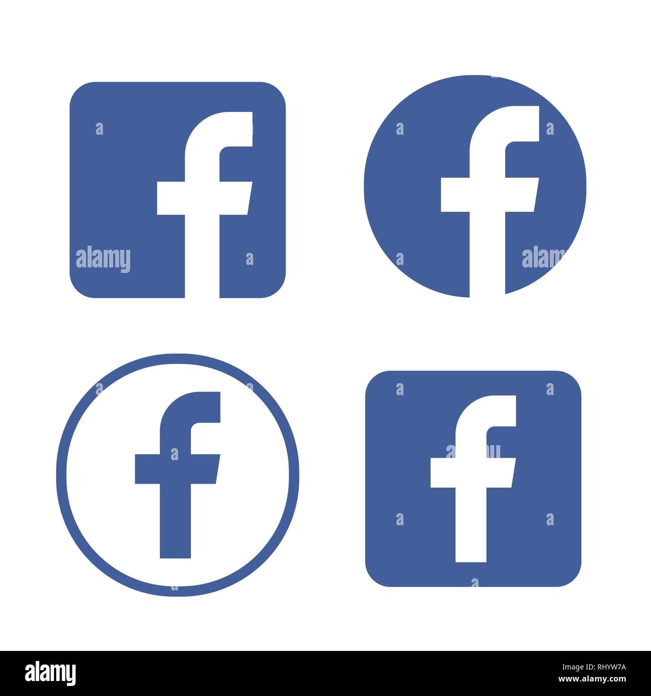 Facebook Logo Vector Illustration Facebook Icon Vector Stock Vector Image Art Alamy