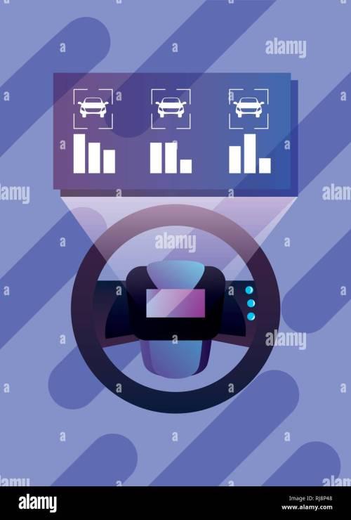 small resolution of autonomous smart car steering wheel diagram vector illustration