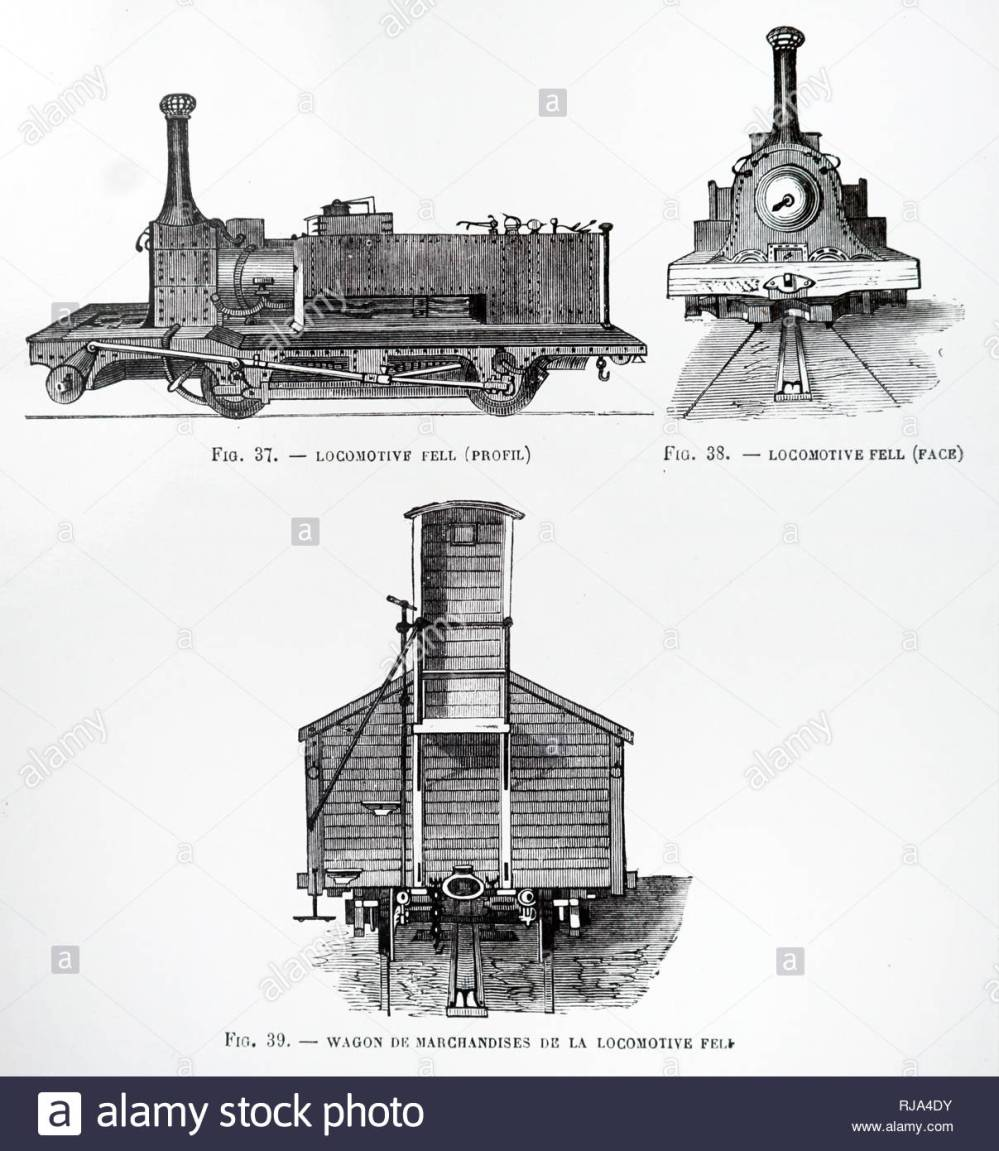 medium resolution of engraving depicting a british rail 10100 an unusual experimental diesel locomotive known informally as the fell diesel locomotive dated 19th century