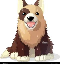 vector cartoon animal clipart puppy dog stock image [ 1201 x 1390 Pixel ]
