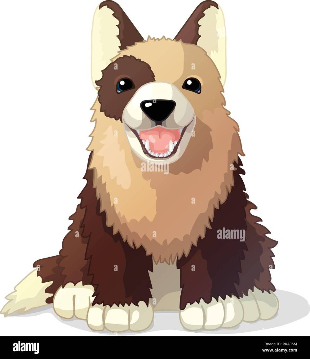 medium resolution of vector cartoon animal clipart puppy dog stock image