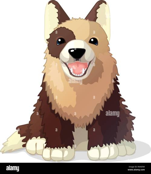 small resolution of vector cartoon animal clipart puppy dog stock image