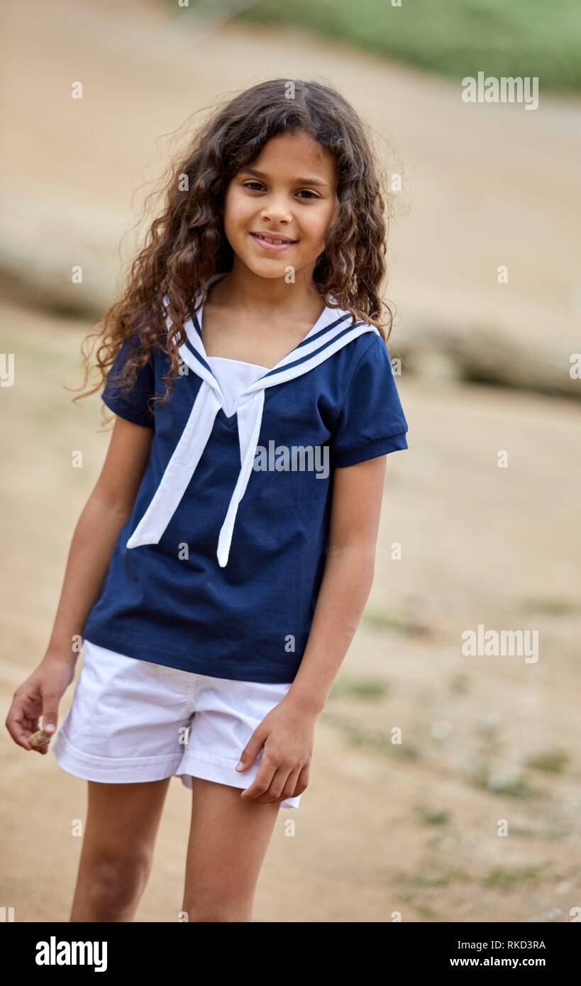 girl in sailor clothes