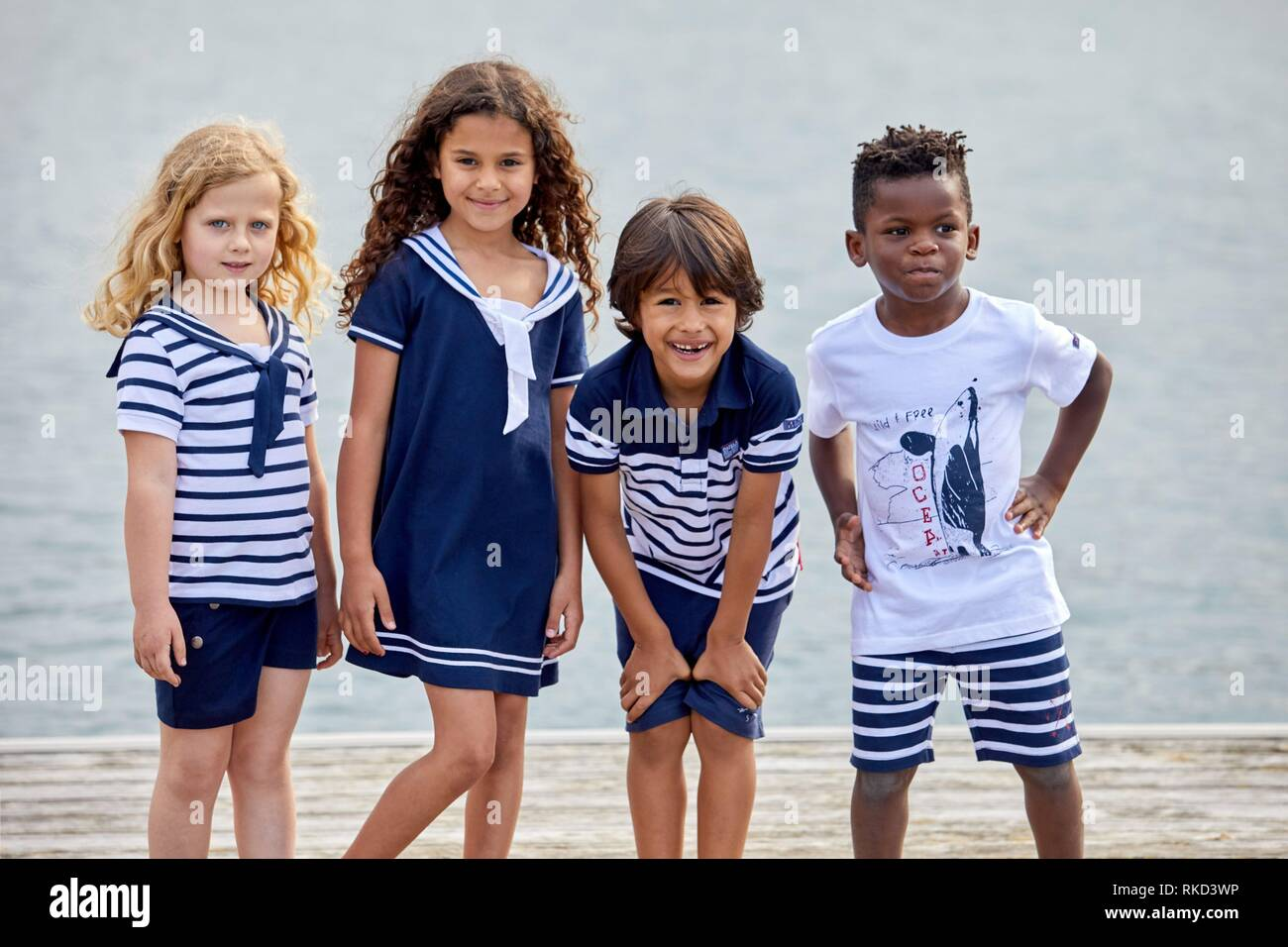 children with sea clothes