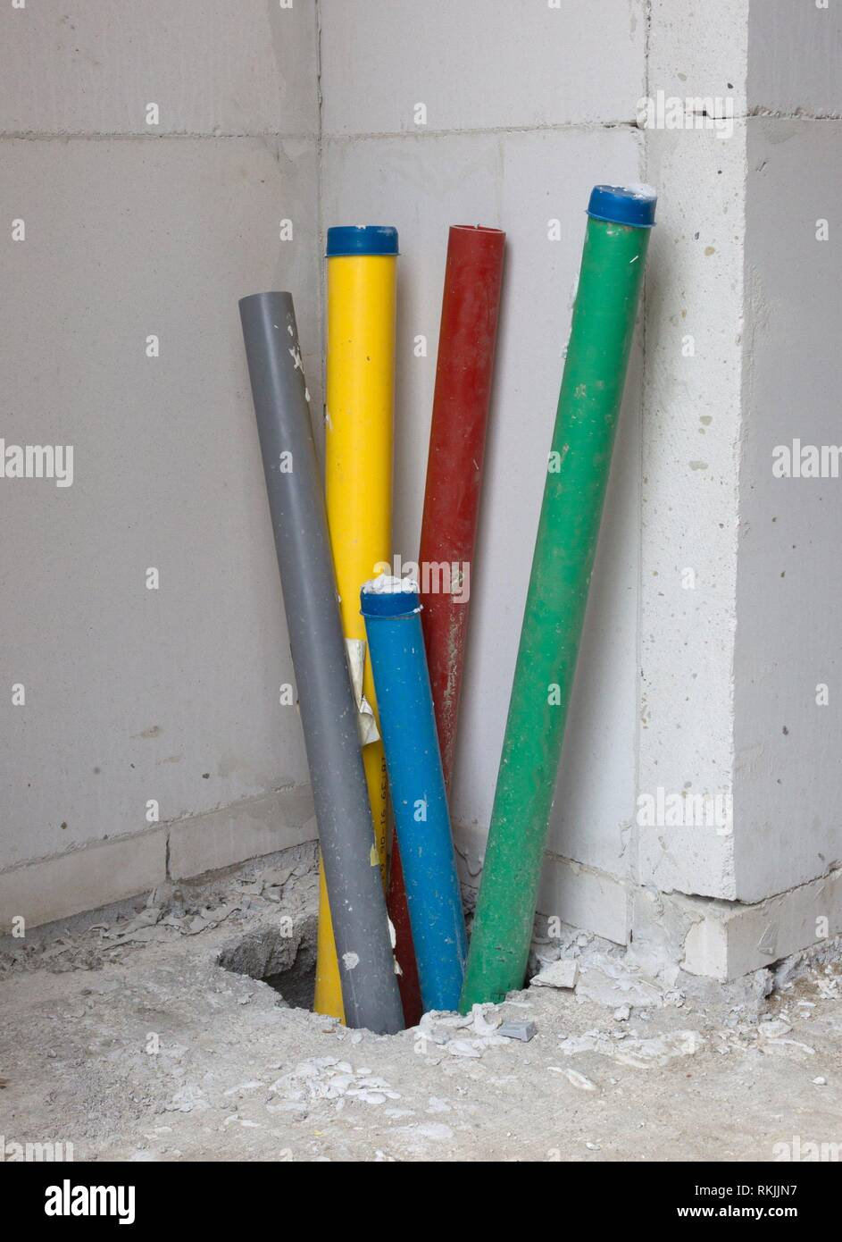 medium resolution of house under construction building a fuse box in a dutch home stock image