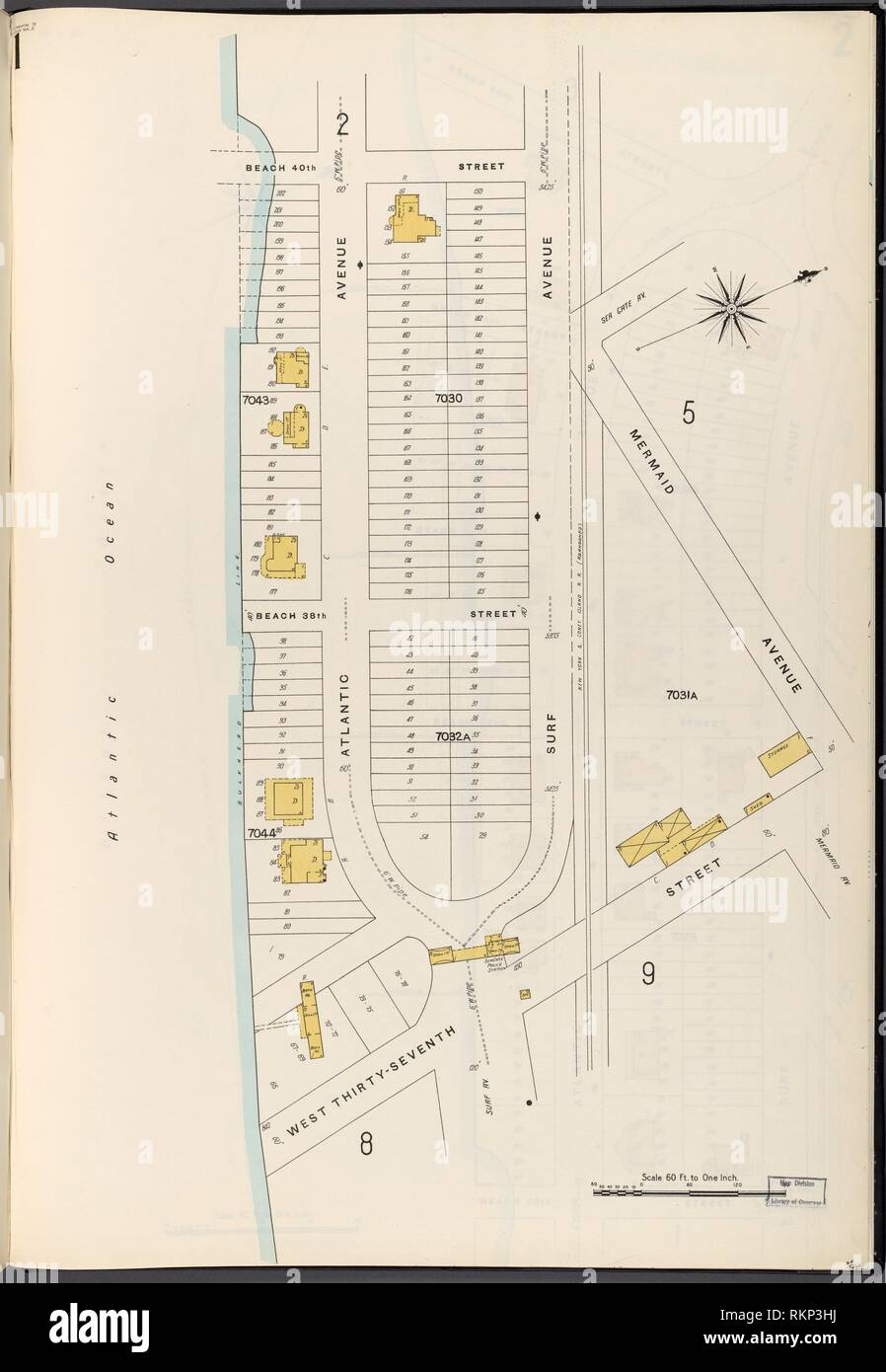 hight resolution of brooklyn vol b plate no 1 map bounded by atlantic ocean 40th