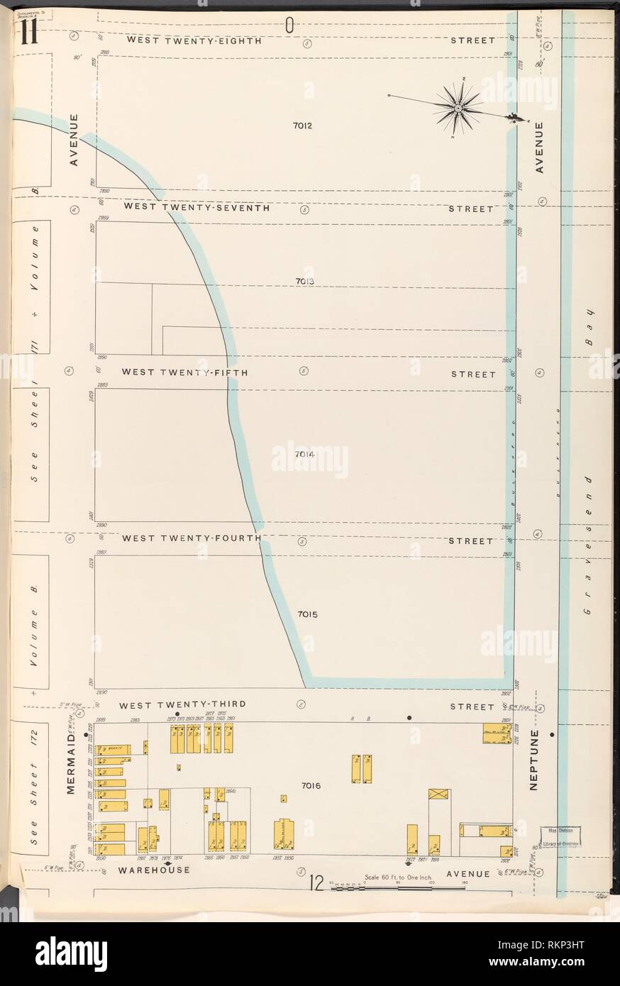 medium resolution of brooklyn vol b plate no 11 map bounded by w 28th st