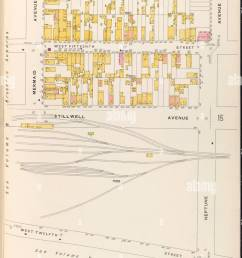 brooklyn vol b plate no 14 map bounded by w 16th st [ 890 x 1390 Pixel ]