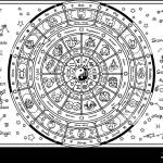Astrology Wheel Black And White Stock Photos Images Alamy