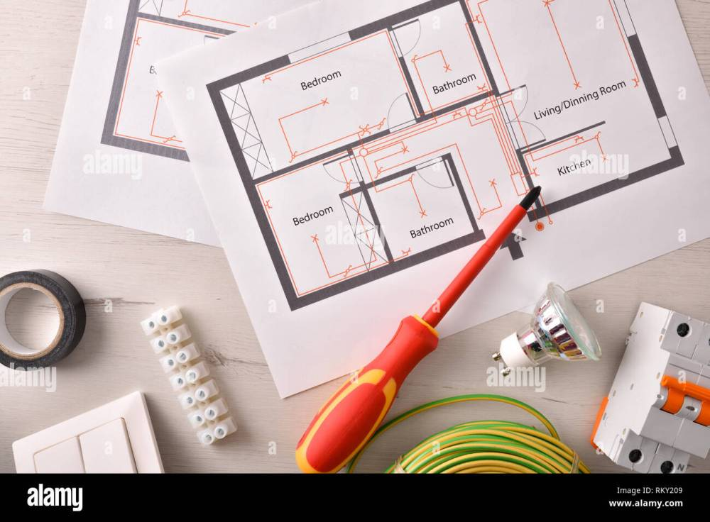 medium resolution of electrical tools for housing installation general view horizontal composition top view stock