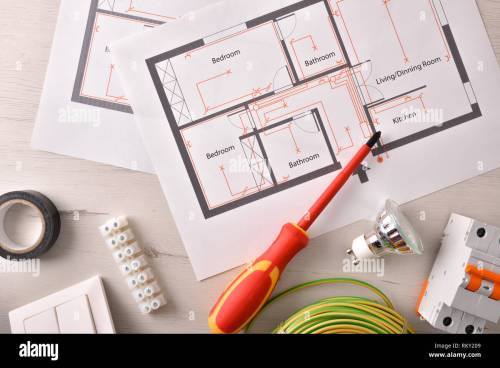 small resolution of electrical tools for housing installation general view horizontal composition top view stock