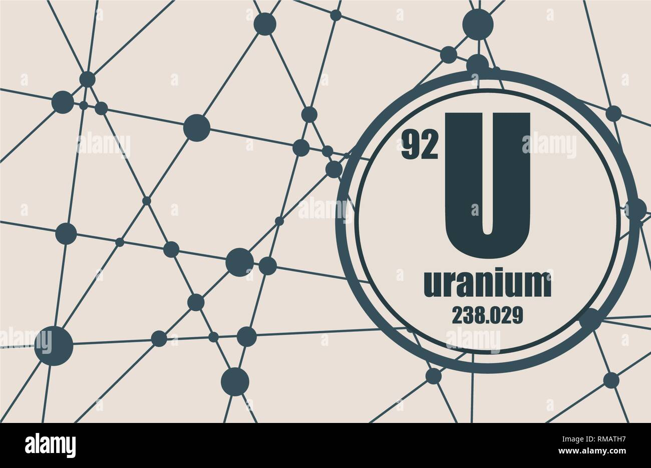 hight resolution of uranium chemical element