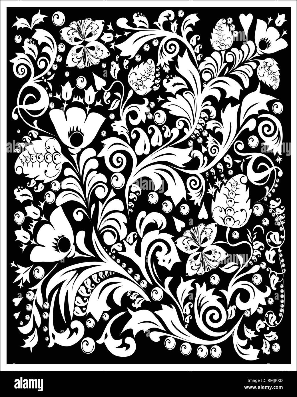Batik Sunda Vector : batik, sunda, vector, Batik, Painting, Black, White, Stock, Photos, Images, Alamy