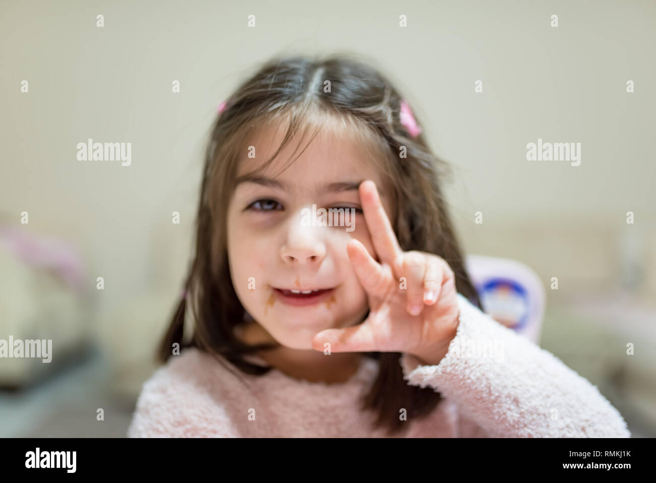 little cute girl with